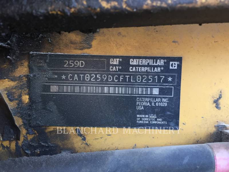 CATERPILLAR MULTITERREINLADERS 259D equipment  photo 7