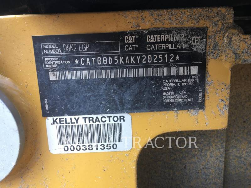 Caterpillar TRACTOARE CU ŞENILE D5K2LGP equipment  photo 20