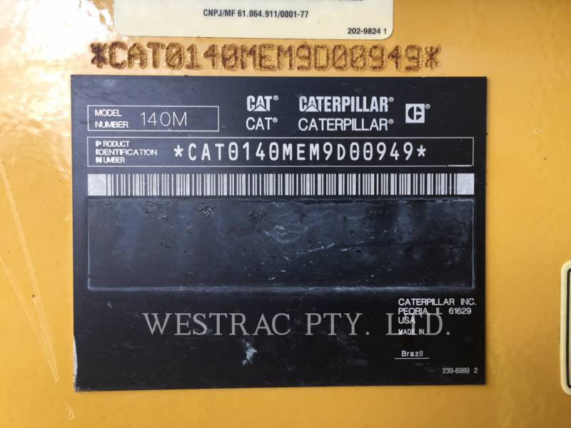 CATERPILLAR NIVELEUSES 140M2 equipment  photo 24