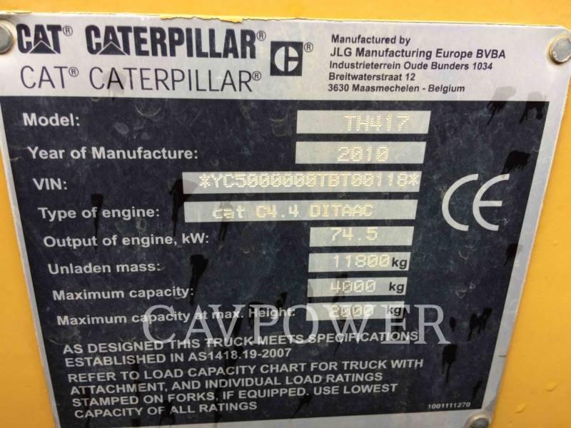 CATERPILLAR TELEHANDLER TH417 equipment  photo 3