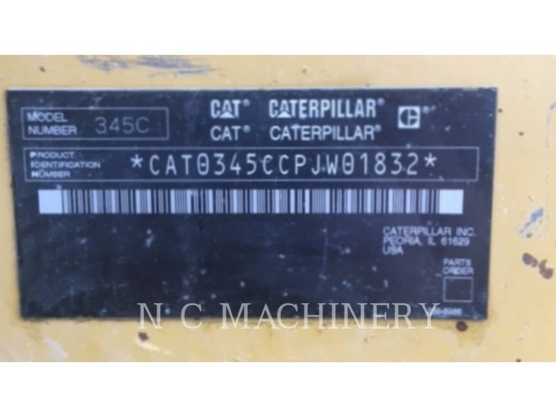 CATERPILLAR KETTEN-HYDRAULIKBAGGER 345CL equipment  photo 8