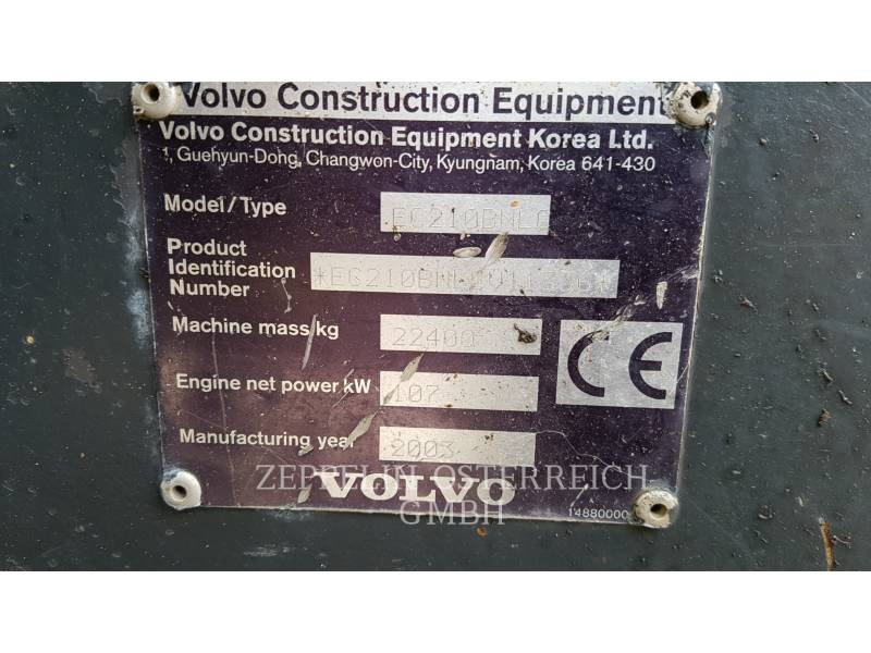 VOLVO TRACK EXCAVATORS EC210BNLC equipment  photo 14