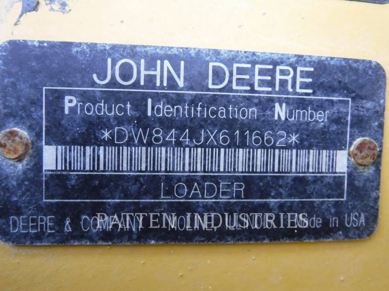 JOHN DEERE CARGADORES DE RUEDAS 844J equipment  photo 8