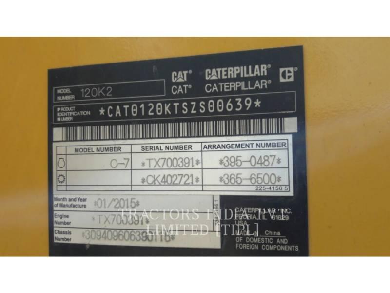 CATERPILLAR NIVELEUSES POUR MINES 120K2 equipment  photo 6