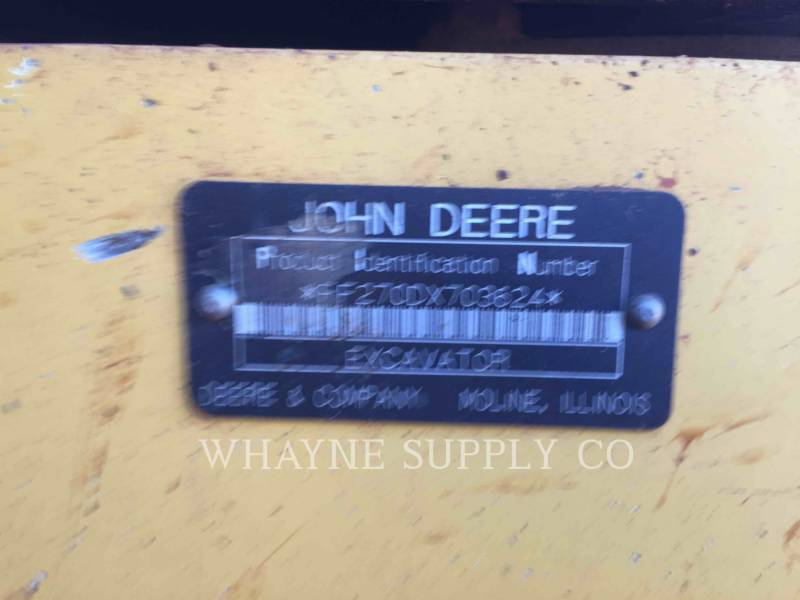 JOHN DEERE ESCAVATORI CINGOLATI 270DLC equipment  photo 12