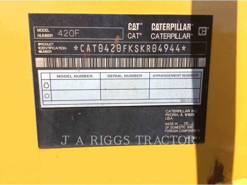 CATERPILLAR BACKHOE LOADERS 420F 4AEM equipment  photo 9