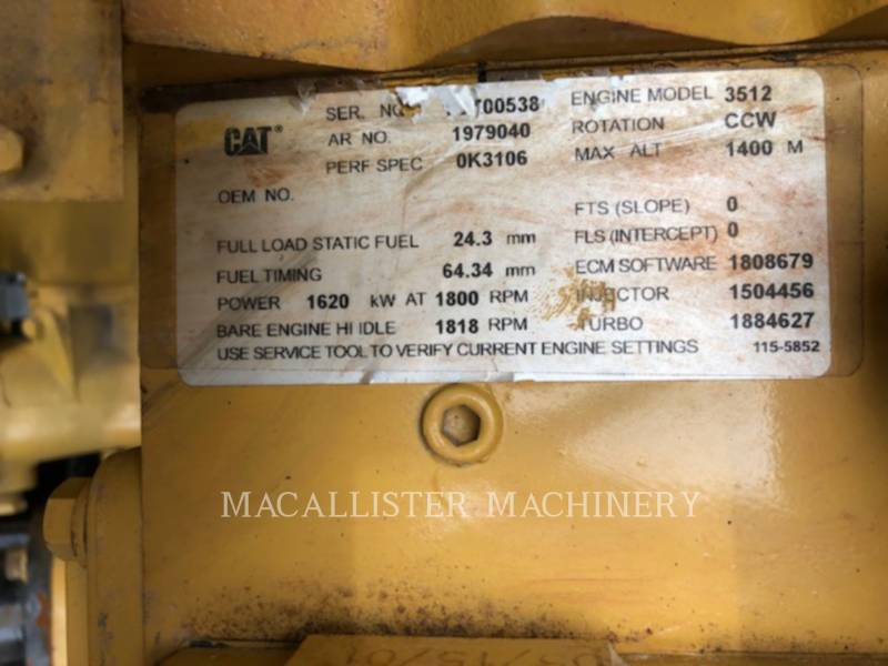 CATERPILLAR STATIONARY GENERATOR SETS 3512B equipment  photo 9