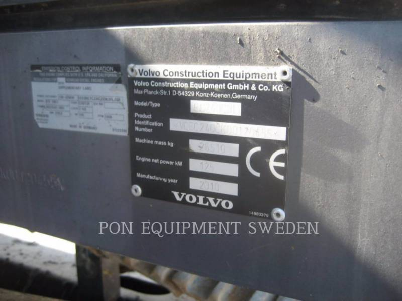 VOLVO CONSTRUCTION EQUIP BRASIL ESCAVATORI CINGOLATI EC240 CNL equipment  photo 9
