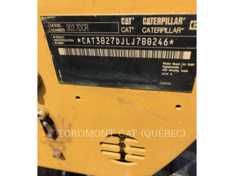 CATERPILLAR EXCAVADORAS DE CADENAS 302.7DCR equipment  photo 15