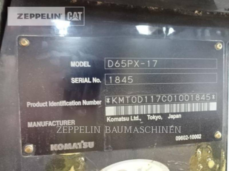KOMATSU LTD. CIĄGNIKI GĄSIENICOWE D65PX equipment  photo 9