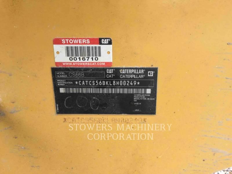CATERPILLAR VIBRATORY SINGLE DRUM SMOOTH CS56B equipment  photo 14