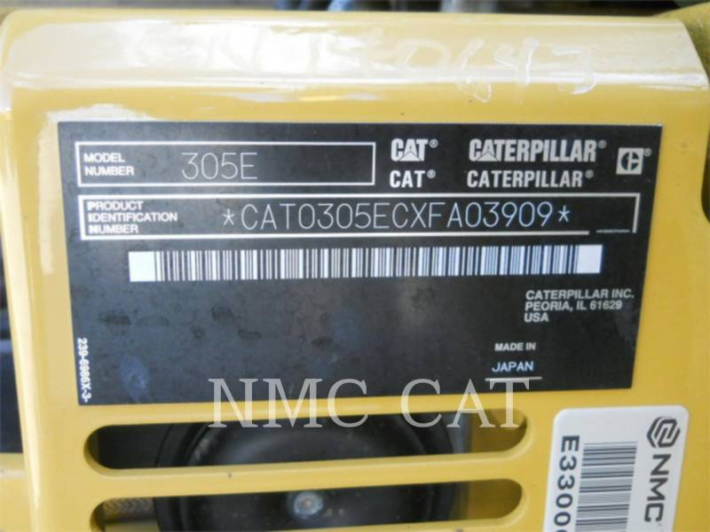 CATERPILLAR EXCAVADORAS DE CADENAS 305ECR equipment  photo 6