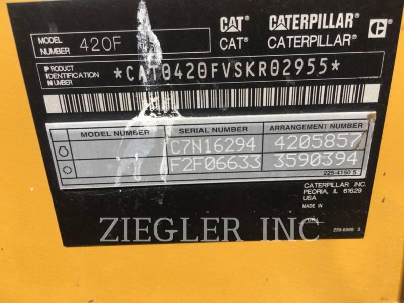 CATERPILLAR BACKHOE LOADERS 420F equipment  photo 6