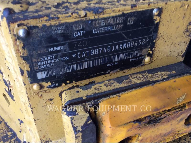 CATERPILLAR KNICKGELENKTE MULDENKIPPER 740 equipment  photo 8