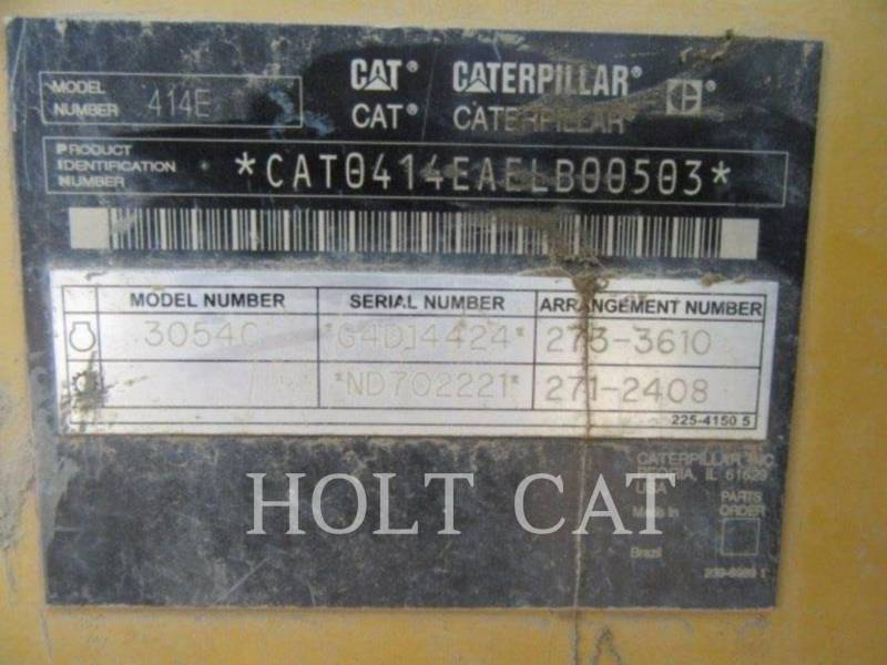 CATERPILLAR CARGADOR INDUSTRIAL 414E equipment  photo 5