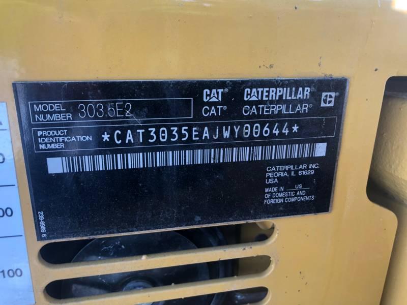 CATERPILLAR EXCAVADORAS DE CADENAS 303.5E2CR equipment  photo 24
