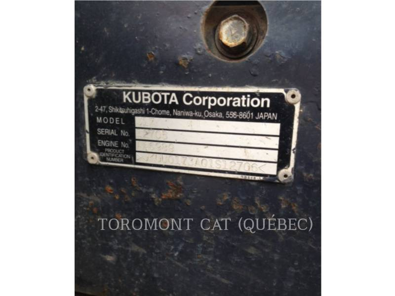 KUBOTA CORPORATION EXCAVADORAS DE CADENAS U17 equipment  photo 19
