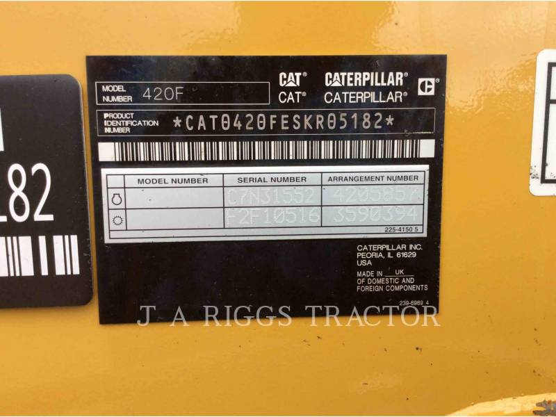 CATERPILLAR CHARGEUSES-PELLETEUSES 420F 4H equipment  photo 9
