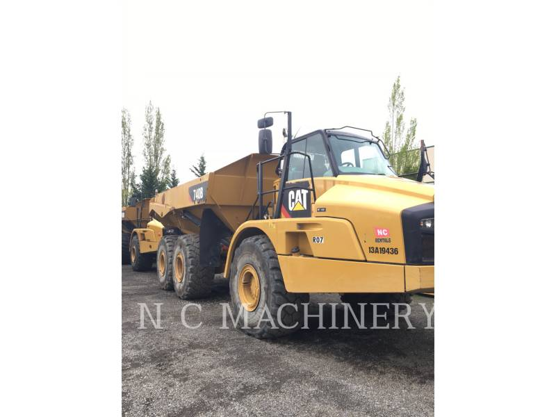 CATERPILLAR KNICKGELENKTE MULDENKIPPER 740B equipment  photo 1
