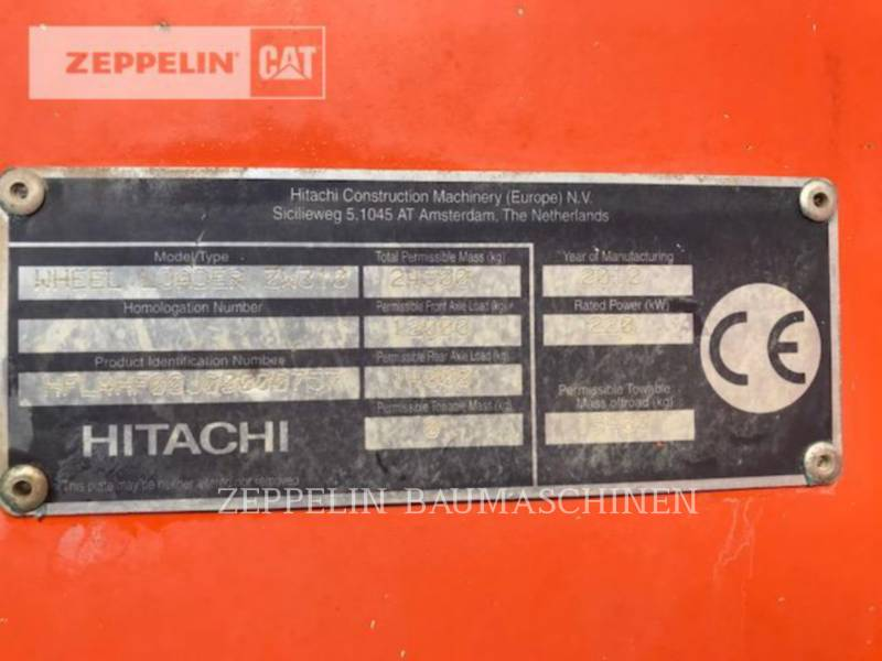 HITACHI CHARGEURS SUR PNEUS/CHARGEURS INDUSTRIELS ZW310 equipment  photo 8