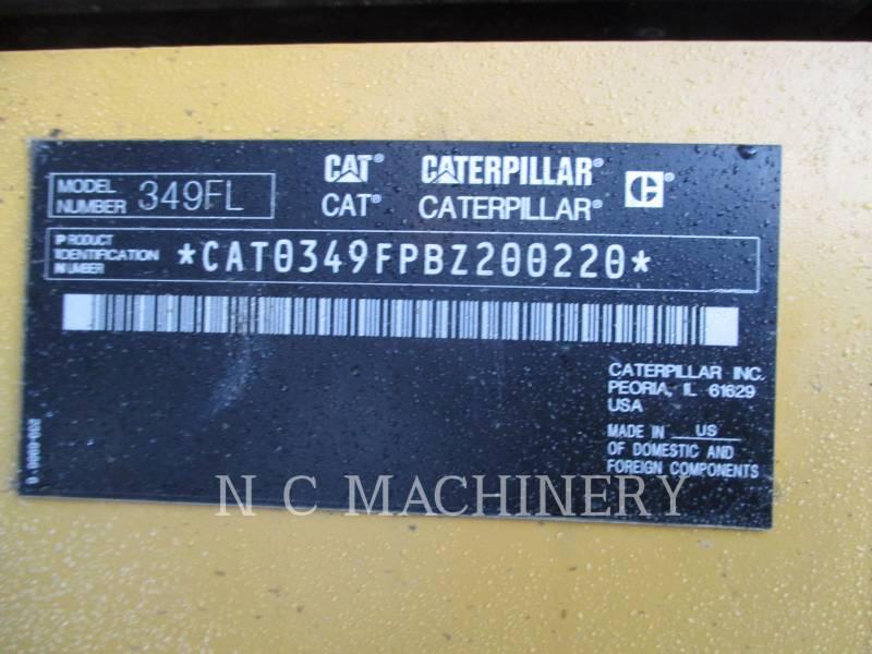 CATERPILLAR TRACK EXCAVATORS 349FL equipment  photo 6