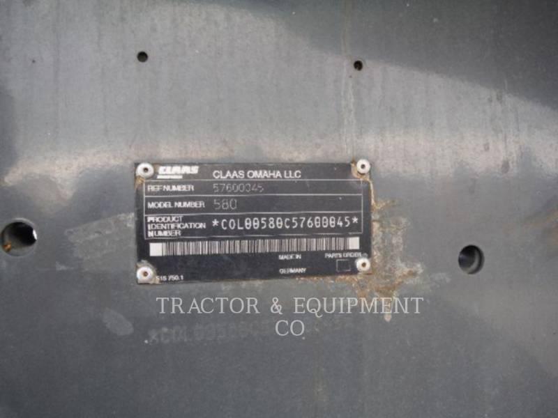 LEXION COMBINE COMBINÉS LX580R equipment  photo 17