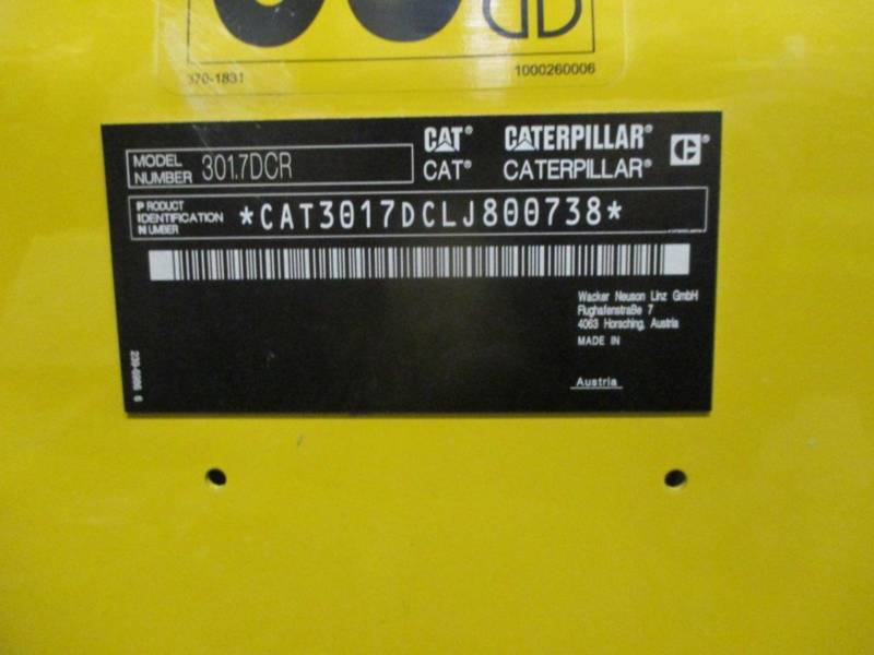 CATERPILLAR ESCAVADEIRAS 301.7DCR equipment  photo 5