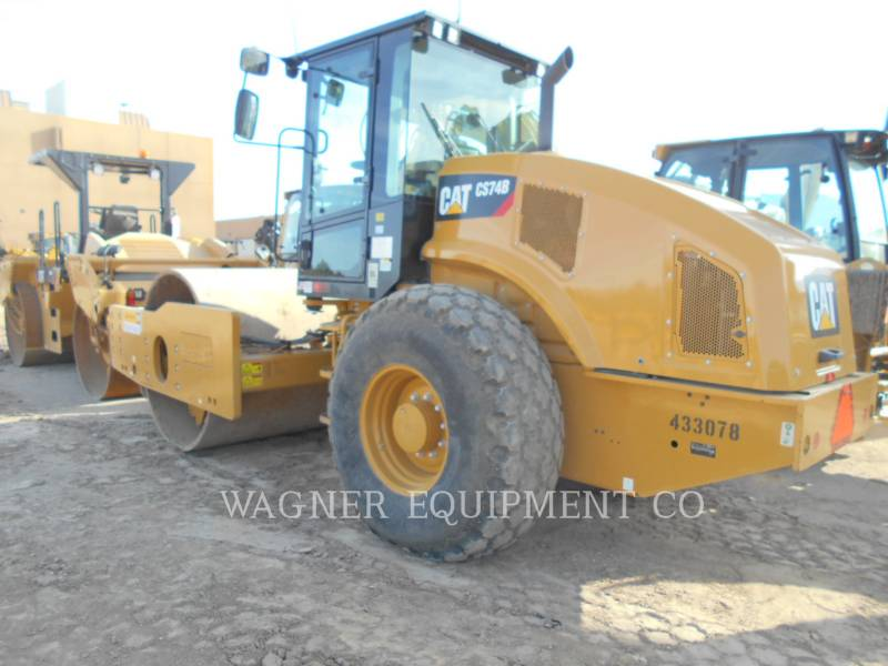 CATERPILLAR EINZELVIBRATIONSWALZE, GLATTBANDAGE CS74B equipment  photo 4