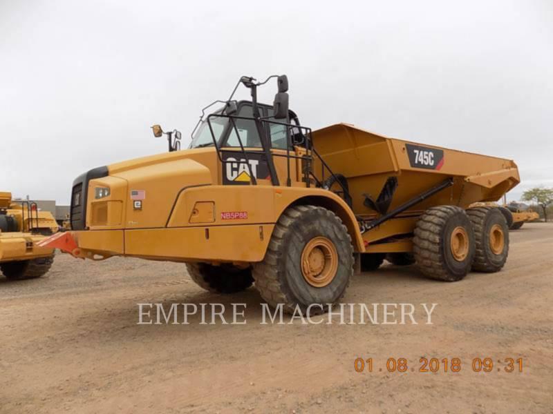 CATERPILLAR KNICKGELENKTE MULDENKIPPER 745C equipment  photo 4