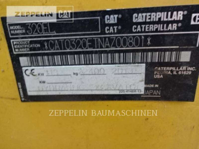 CATERPILLAR ESCAVATORI CINGOLATI 320EL equipment  photo 9
