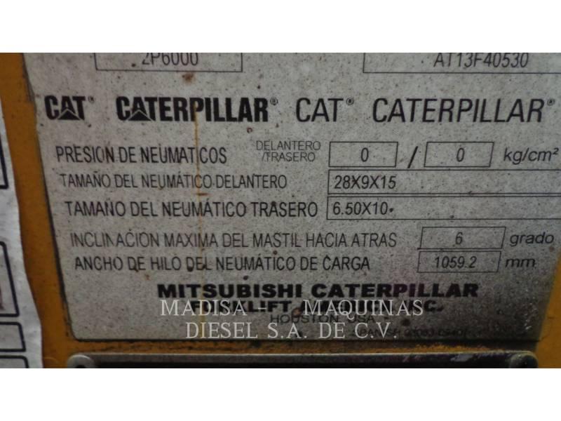 MITSUBISHI CATERPILLAR FORKLIFT FORKLIFTS 2P60004-GL equipment  photo 2