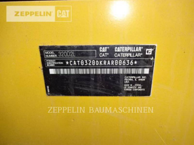 CATERPILLAR KETTEN-HYDRAULIKBAGGER 320D2L equipment  photo 9