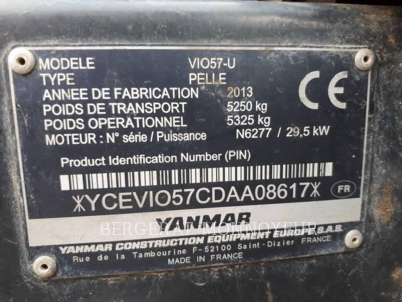 YANMAR TRACK EXCAVATORS VIO57U equipment  photo 6