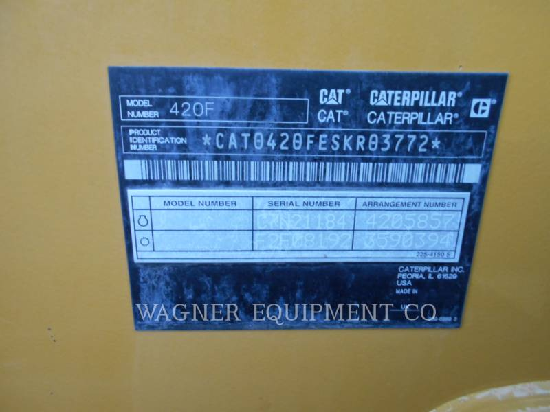 CATERPILLAR CHARGEUSES-PELLETEUSES 420F 4WD equipment  photo 5