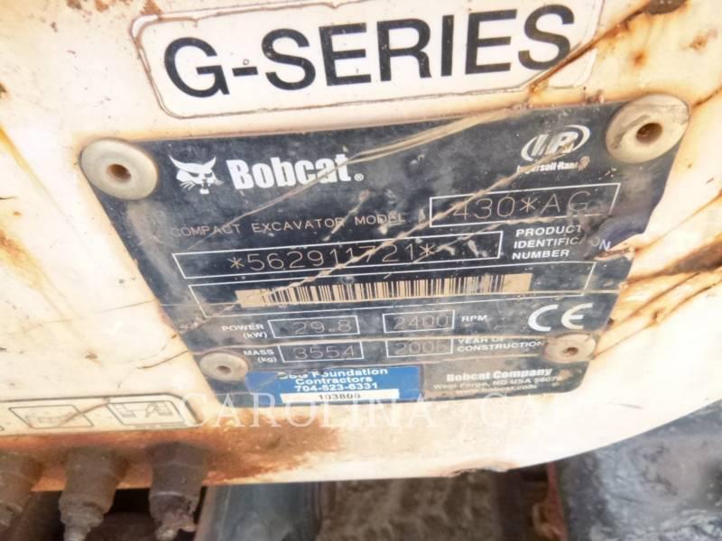 BOBCAT EXCAVADORAS DE CADENAS 430 equipment  photo 8
