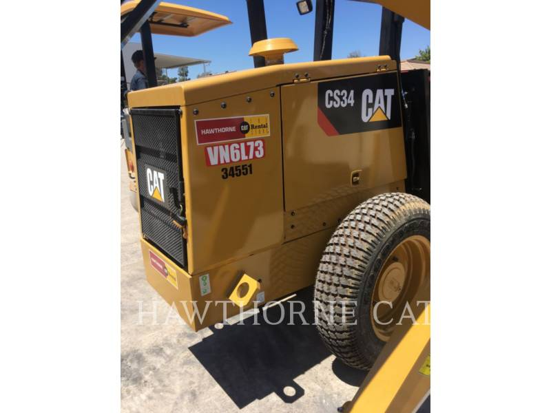 CATERPILLAR COMPATTATORE A SINGOLO TAMBURO VIBRANTE LISCIO CS34 equipment  photo 5
