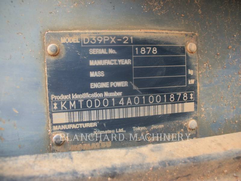 KOMATSU TRACK TYPE TRACTORS D39PX-21 equipment  photo 9
