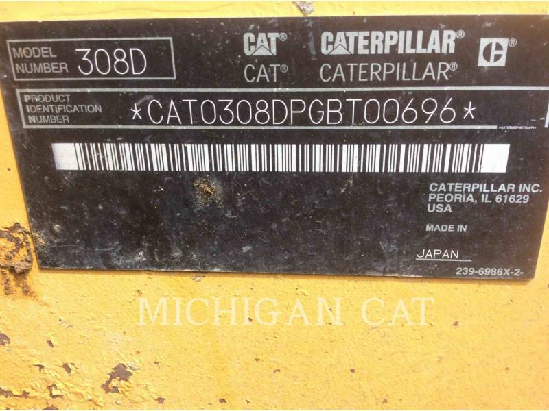 CATERPILLAR ESCAVADEIRAS 308DCR equipment  photo 24