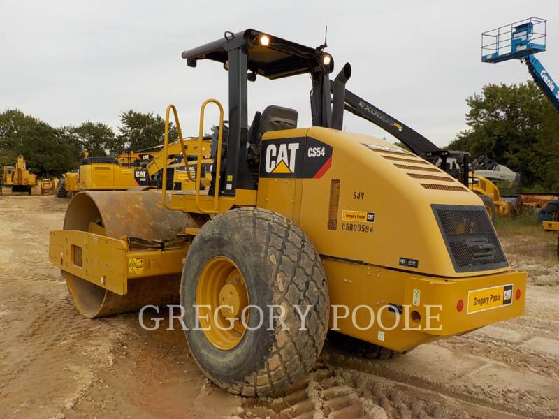 CATERPILLAR VIBRATORY SINGLE DRUM SMOOTH CS54 equipment  photo 9