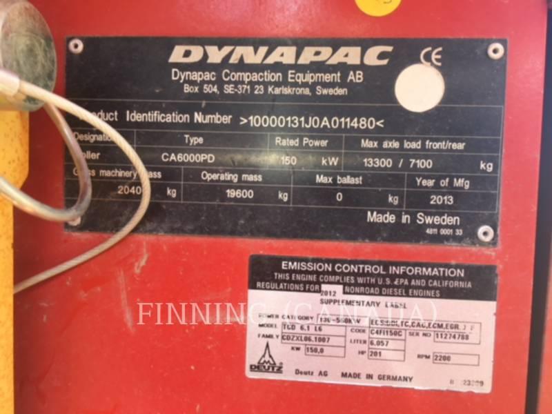 DYNAPAC SOPORTE DE TAMBOR ÚNICO VIBRATORIO CA6000PD equipment  photo 7