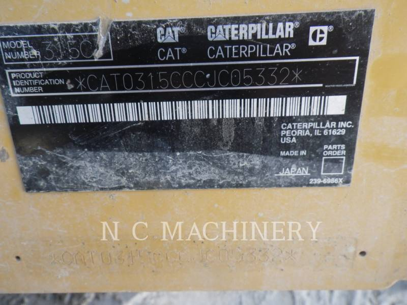 CATERPILLAR TRACK EXCAVATORS 315C L equipment  photo 12