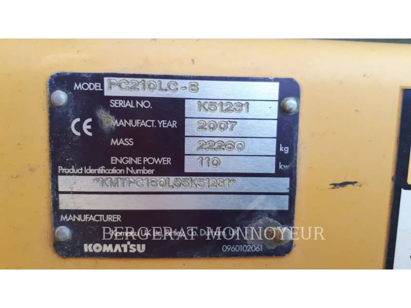 KOMATSU PELLES SUR CHAINES PC210LC6 equipment  photo 7