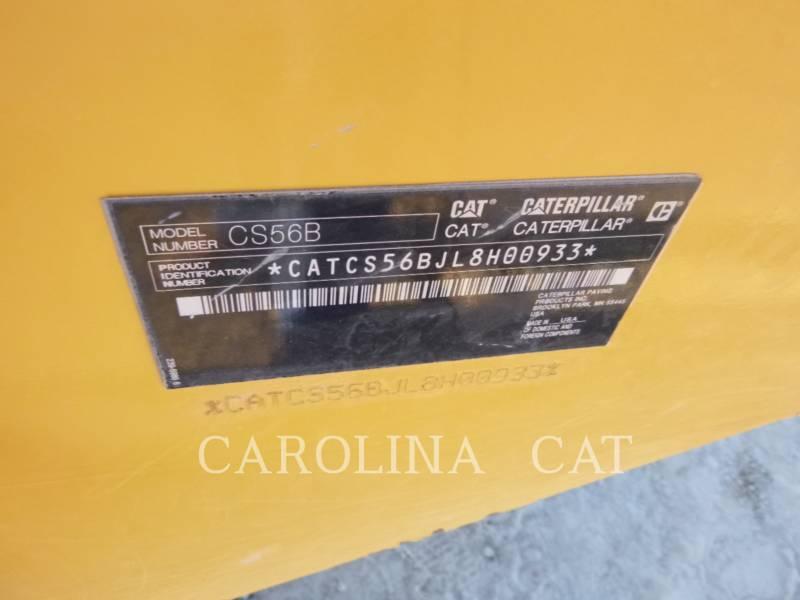 CATERPILLAR 振動シングル・ドラム・スムーズ CS 56 B equipment  photo 8