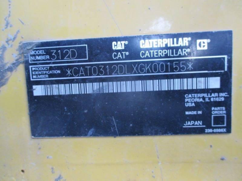 CATERPILLAR TRACK EXCAVATORS 312DL equipment  photo 5