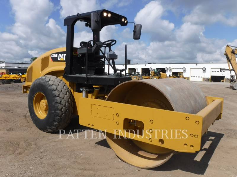CATERPILLAR VIBRATORY SINGLE DRUM PAD CS54B equipment  photo 3