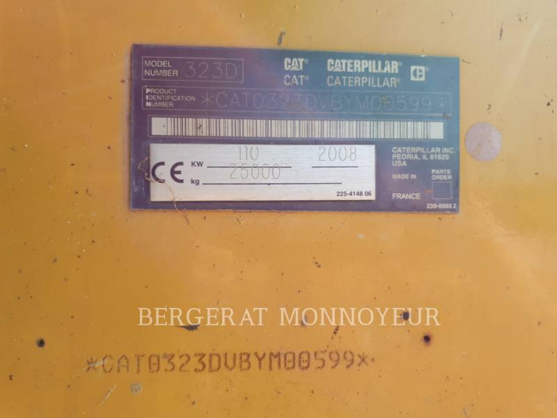 CATERPILLAR EXCAVADORAS DE CADENAS 323D equipment  photo 6