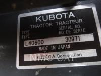 KUBOTA CORPORATION AG TRACTORS L4060_KU equipment  photo 6