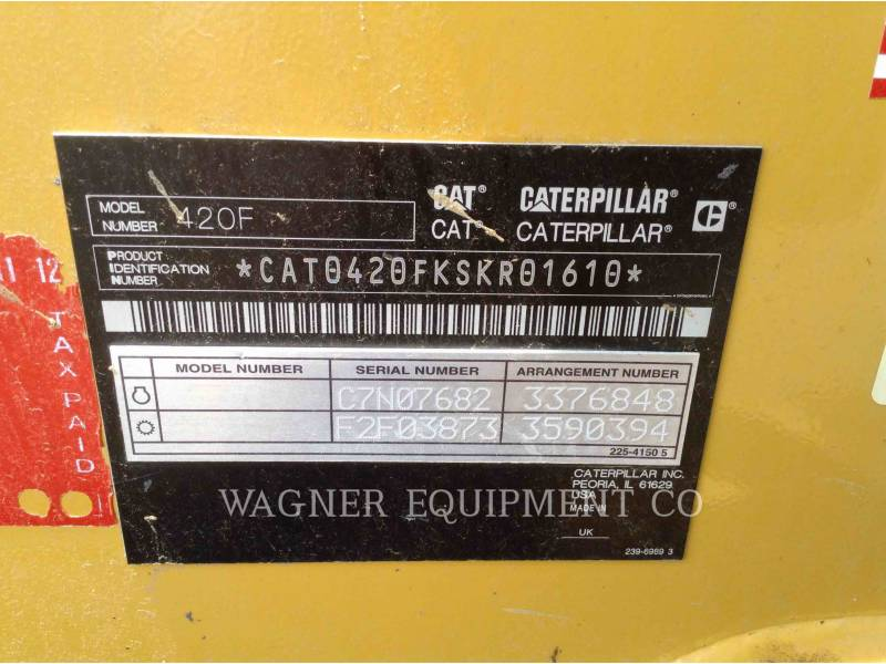 CATERPILLAR CHARGEUSES-PELLETEUSES 420F 4WDE equipment  photo 8