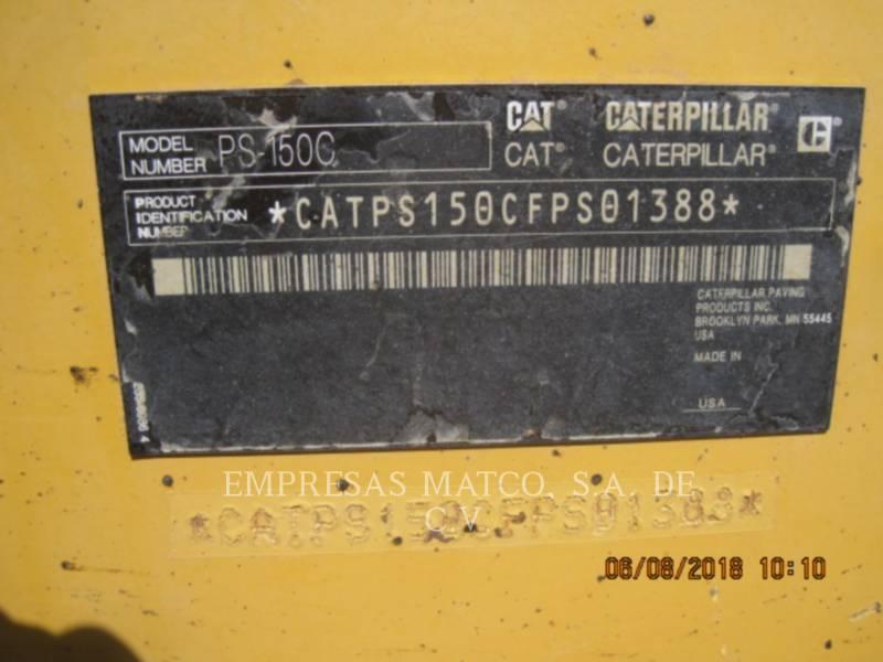 CATERPILLAR PNEUMATIC TIRED COMPACTORS PS-150C equipment  photo 6