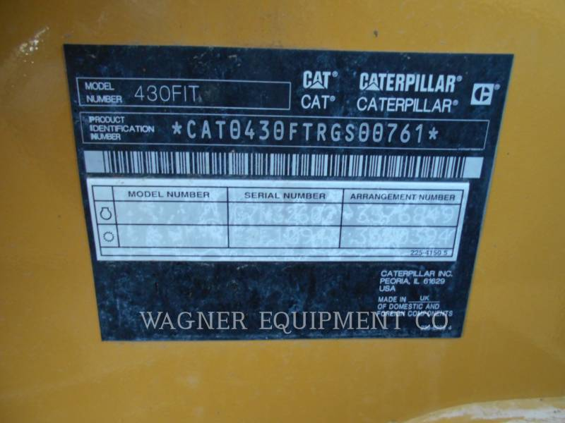 CATERPILLAR BACKHOE LOADERS 430F IT4WD equipment  photo 5